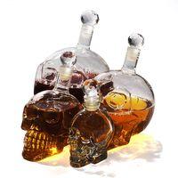 ingrosso utensili per whisky-350/550/1000 ml Creativo Testa di Cranio Whisky Vodka Vino Decanter Bottiglia Whisky Bicchieri di Birra Spirits Bicchiere Acqua Bar Strumento