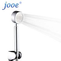 acessórios para banho de cromo venda por atacado-Jooe HandHeld Cabeça De Chuveiro De Poupança De Água de Alta Pressão Cromo Rodada mão de Banho spa Cabeças de Chuveiro Acessórios Do Banheiro chuveiro ducha
