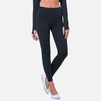 medias de ropa de fitness al por mayor-2018 Autumn Yoga Pants Female Hips Sports Fitness Clothes Show Lean Tight Waist Pies Pequeños Nueve Pantalones