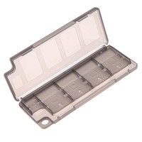 Wholesale ps vita online - V1NF in1 Game Memory Card Holder Storage Case Box for PS Vita ER PSV Black High Quality Game Memory Card Box Case