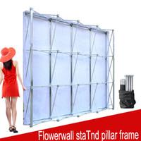подставки для цветов оптовых-Алюминиевый цветок стены складная подставка Рамка для свадьбы фонами Straight Баннер Выставка Показать Stand Trade Реклама Показать
