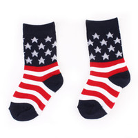 Wholesale Baby Socks For Boys - American Independence Day Children Star stripes socks Cotton American flag Baby Socks for boys and Girls Tube socks C4270