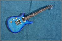 инкрустация гитарой оптовых-Бесплатная доставка Reed smith пользовательские электрогитара,море тигр синий S гитара с инкрустацией птицы гриф,хром оборудование
