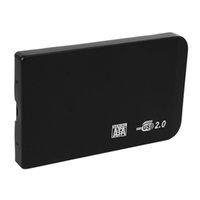 harici sabit disk çantası çantası toptan satış-Elisona Darbeye Dayanıklı 2.5 inç SATA HD Kutusu USB 2.0 HDD Sabit Disk Disk SATA Harici Depolama Muhafaza Kılıf Kapak ile Çanta Kılıfı