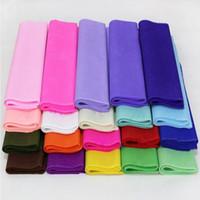 ingrosso tessuti di nozze di carta-Carta velina colorata della carta da imballaggio di 40Pcs per la decorazione di nozze / fiore di DIY 50 * 50CM Imballaggio del regalo