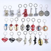 Wholesale Avengers Keychain Pendant Iron Man Mask Captain America Shield X Warrior Gift Hanger