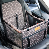 Wholesale rear car carrier online - New Folding Washable Hammock Car Mat Seat Cover Bag Crate Storage Pocket For Dog Cat Pet Rear Single Seat Pads Size cm
