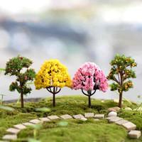 Wholesale Fruit Ornaments - Decorative Landscaping Tree Simulation Fruit Tree Flower Ornament Micro Moss Terrarium Decoration Fairy Garden Accessories DIY Material