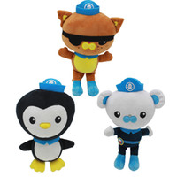 ingrosso capitano barnacles-The Octonauts giocattoli peluche Peso Kwazii Captain Barnacles animali di peluche Cartoon Bear Cat Penguin Dolls 28cm 11inch