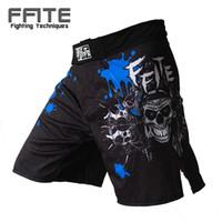 Wholesale blue mma - Ffite Men 'S Boxing Pants Printing Mma Shorts Men Fight Cheap Short Black Kickboxing Muaythai Pants Thai Boxing Shorts Mma Trunks