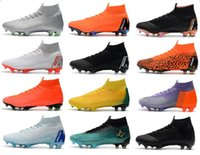 Wholesale free mercurial superfly online - New Mens Soccer Cleats Mercurial Superfly VI Elite FG ACC Soccer Shoes World Cup Football Boots