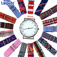 Wholesale Color Red Activities - Wholesale-Hot Activity Top Quality 20mm perlon White Red Diver 3 Keepers NATO Waterproof Nylon Strap Watch Band 17 color Reloj Mujer Belts
