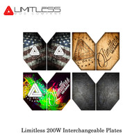 Wholesale electronic cigarette plate - Limitless 200W Replacement Plates Front and Back Interchangeable for LMC Limitless 200W 220W Box Mod electronic cigarette