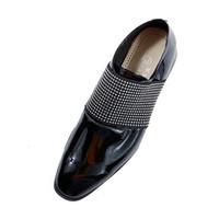 chinelos personalizados venda por atacado-Homens Sapatos de Couro de Patente Strass Deslizamento em Chinelo de Negócios Oxfords Sapatos de Casamento Mocassins para Homens EU39-EU46 cor Personalizada