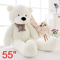 ingrosso big white teddy bear doll-Big Teddy Bear White Peluche Soft Toys Doll Solo Cover Case No Filled Gift US
