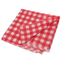 beyaz diskler toptan satış-Tek kullanımlık Masa Örtüleri Yemeği Masa Örtüleri 135x270 cm Doğum Günü Yeni Yıl Yılbaşı Parti Malzemeleri için Kırmızı Ekose Disk Masa Örtüsü