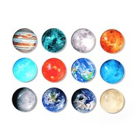 Wholesale Magnets Mm - 30 MM Cosmos Moon Planet Fridge Magnet Creative Crystal Glass Magnetic Refrigerator Stickers Exquisite Holder Home Decoration 15nxa Y