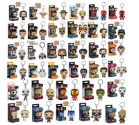 Wholesale chain collection - Funko Pop Keychain Action Figures Anime Collection Doll kids Toys Movie Anime Key chain Keyring Kid Toy 33 design KKA5030