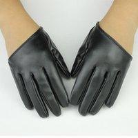 guantes de cuero de hip hop al por mayor-guantes de baile hip-hop guantes accesorios de rendimiento de escenario Especial para guante creativo show PU media palma de cuero