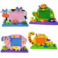 Wholesale Handmade 3d Stickers - EVA Foam Cartoon Photo Frame for Kids Child DIY 3D Stickers Handmade Block Toy Paste Photo Frame Craft