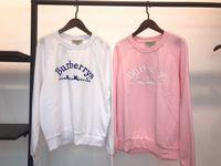 pink clothing al por mayor-2018 NUEVA Moda ROSA Impresión de Manga Larga de Las Mujeres Sudaderas Con Capucha Casual Sudaderas Jóvenes Americanos Ropa Superior