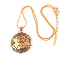 amuletos tibetanos al por mayor-Mi Forma Collares Sello del Arcángel Michael Enochian Collar Llamativo Hombres Talismán Amuleto Ángel Collares Tibetanos para Mujeres