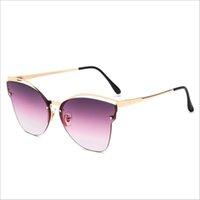 bayan güneş gözlüğü altın toptan satış-Retro Güneş Kadınlar Yeni Kedi göz Tasarımcı Altın Vintage Moda güneş gözlükleri lady Gözlük