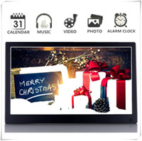 "Wholesale movies clock - 12"" Digital Photo Picture Frame Full View IPS 1920x1080 & HD Video (1080p),Advertising Machine Alarm Clock MP3 MP4 Movie Player"
