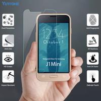 ingrosso s4 protezione mini schermo in vetro-Proteggi schermo in vetro temperato per Galaxy J1 MINI J2 Premium J5 Prime per Samsung Galaxy J5 J7 Pro Note 3 4 5 S3 S4 senza confezione