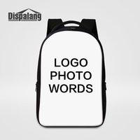 персонализированные рюкзаки для мужчин оптовых-Настройте свой собственный дизайн ноутбука рюкзак большой емкости школьные сумки для студентов колледжа женщины мужчины персонализированные печать рюкзаки рюкзак