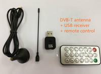 mini dvb t tv digital venda por atacado-Mini receptor de TV digital USB vara de TV digital, gravação de vídeo de transmissão de vídeo digital, antena dvb-t + receptor + controle remoto