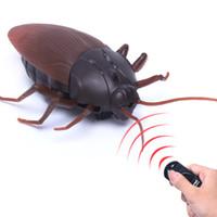 nuevos juguetes de control remoto al por mayor-Nueva Diversión de Alta Simulación Animal Cucaracha Infrarrojo Control Remoto Niños Juguete de Regalo de Alta Calidad Envío de La Gota