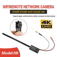 sécurité caméra sans fil pour les pcs achat en gros de-H6 WiFi Micro Caméra DIY Module HD 4K 1080P Mini Caméra de Sécurité Caméra Sans Fil Détection de Mouvement Cam Nounou Pour iPhone / Android Téléphone / PC