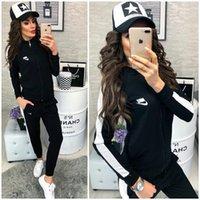 klasik spor giyim toptan satış-NO2Avrupa ve Amerikan marka yeni kadın giyim spor takım elbise klasik moda renkli alışveriş