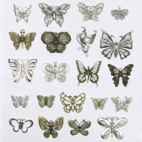 Wholesale zodiac accessories for sale - Retro mm Hole diameter Metal Loose Beads Charm Butterfly DIY Jewelry Accessory Pendant For Keyring Bracelet Necklace
