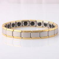 Wholesale Magnetic Jewelry Bracelet Health - Men's Bracelet Bracelets Energy Germanium Magnetic Tourmaline Bracelet Health Care Jewelry For Women Bracelets Bangles drop ship 160808