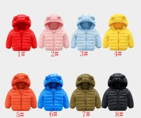 Wholesale boys outerwear coat for sale - Group buy 8styles Winter Warm Hooded Coat Children s Outerwear Boy and Girl Children Cotton Padded Down Jacket Kid Jackets clothes FFA1186