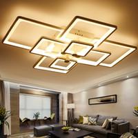 yatak odası için modern lambalar toptan satış-Sıva Üstü Akrilik Modern Oturma Odası Yatak Odası Karartma Için Led Tavan Işıkları Tavan Lambası ışık fikstür armatür