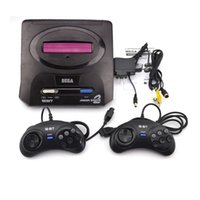 ingrosso dual console-Sega Genesis / MD compact 2 in 1 console di gioco dual catridge rom supporto scheda di gioco originale
