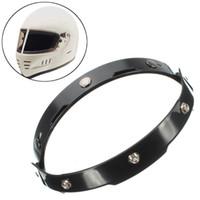 Wholesale flip up visor resale online - Motorcycle Black UV Adapter Flip Up Base Attachment For Snaps Bubble Shield Visor Face Mask Helmet Accessories