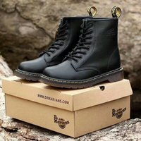 Wholesale gingham style - Newest leather boots Winter ankle Style Dr. Genuine Leather Martens Boots Martin Shoes Men&Women Dr Designer waterproof Boots