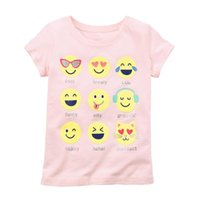 Wholesale organic cotton tee shirts wholesale - 2018 Baby Girl Tees Shirts Expression Face Newborn Tops 100% Cotton Children Clothes Toddler Blouse Kids Outfits Cute Babywear
