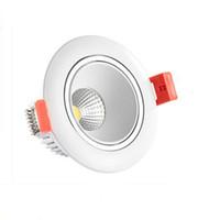 потолочные светильники большой мощности оптовых-Круглый / квадратный супер 10 Вт высокое качество встраиваемые COB Led Ceilng вниз огни + блок питания встраиваемые потолочные светильники домашние лампы