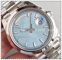 застежка-молния оптовых-96 роскошные часы мужские часы 316L из нержавеющей стали оголовье ремешок синий циферблат zifferblatt шаблон механизм с автоподзаводом оригинальный складной пряжки наручные