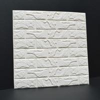 duvar kağıdı tuğla desen toptan satış-Kabartmalı Tuğla Taş Duvar Kendinden Yapışkanlı 3D Duvar Çıkartmaları Oturma Odası Yatak Odası Yaratıcı Tuğla Desen Köpük Duvar Kağıdı Çıkartmalar