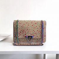 bolsas embelezado venda por atacado-2018 designer de estilo clássico bolsas de cristal embelezado demilune bag Lady Sacos de Ombro Feminino moda saco Crossbody bolsa Das Senhoras