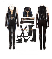 Wholesale female deadpool cosplay costume for sale - 2018 Movie Deadpool Costume Domino Costume Women Neena Thurman Cosplay Costume Halloween Costumes For Women Custom Made