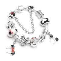 europäische charme armbänder kinder großhandel-Mode europäischen Charme Bead Armband für Pandora Armband Cartoon Stil Perlen Lady / Kind Armreif Schmuck