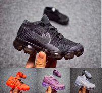 Wholesale Children Size Girls - vapor 2018 Infant & Children Kids running shoes Mesh outdoor Sports shoes toddler athletic trainer boy & girl sneaker size 27-35