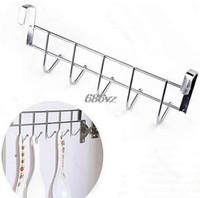 Wholesale drop hangers - Bathroom Kitchen Hat Towel Hanger Over Door Hanging Rack Holder Five Hooks N24 Drop Ship